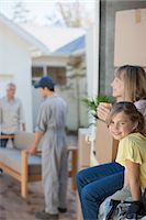 Family moving into new home Stock Photo - Premium Royalty-Freenull, Code: 635-07763033
