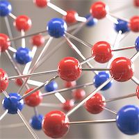Molecular structure with spheres interconnected with depth of field. Stock Photo - Royalty-Freenull, Code: 400-07777078
