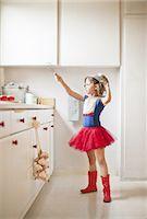 superhero - Kitchen warrior Stock Photo - Premium Royalty-Freenull, Code: 613-07780408