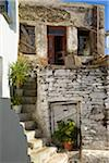 Old house in mountain village, Tinos, Cyclades Islands, Greece