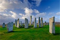 Callanish Stone Circle, a famous neolithic monument located on the Isle of Lewis in the chain of islands known as the Outer Hebrides, Scotland Stock Photo - Premium Rights-Managednull, Code: 700-07783744