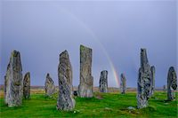 Callanish Stone Circle, a famous neolithic monument located on the Isle of Lewis in the chain of islands known as the Outer Hebrides, Scotland Stock Photo - Premium Rights-Managednull, Code: 700-07783751