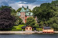 stockholm - Building and boathouse, waterfront, Stockholm, Sweden Stock Photo - Premium Rights-Managednull, Code: 700-07783853
