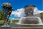 Fountain, Gustav Vigeland Installation in Frogner Park, Oslo, Norway