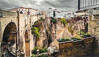 puentes - The Puente Nuevo bridge and Picturesque view of Ronda city. Province of Malaga, Andalusia, Spain Stock Photo - Royalty-Freenull, Code: 400-07791594