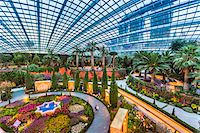 Overview of the Flower Dome, Gardens by the Bay, Singapore Stock Photo - Premium Rights-Managednull, Code: 700-07802660