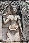 Relief of Apsara dancer, Bayon Temple, UNESCO World Heritage Site, Angkor, Siem Reap, Cambodia, Indochina, Southeast Asia, Asia