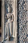 Relief sculpture of Apsara dancer, Angkor Wat Temple complex, UNESCO World Heritage Site, Angkor, Siem Reap, Cambodia, Indochina, Southeast Asia, Asia