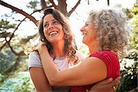 Mother and daughter enjoying nature Stock Photo - Premium Royalty-Freenull, Code: 649-07803220