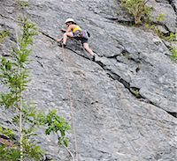 rock climber - Female climber, lead climbing, Halfway to Kansas at Fairy Cave Quarry Stock Photo - Premium Royalty-Freenull, Code: 649-07803943