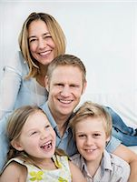 Portrait of a happy family Stock Photo - Premium Royalty-Freenull, Code: 6121-07809750