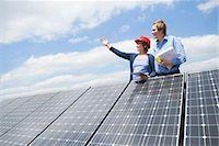 Planning solar park architect meeting Stock Photo - Premium Royalty-Freenull, Code: 6121-07810070