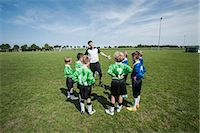 Soccer trainer junior football team practice Stock Photo - Premium Royalty-Freenull, Code: 6121-07810306