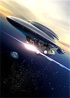 spaceship - Space tourism Stock Photo - Premium Royalty-Freenull, Code: 679-07814066