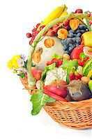 basket of fruit and vegetables Stock Photo - Royalty-Freenull, Code: 400-07818221