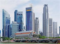 Singapore city skyline at day asia famous downtown Stock Photo - Royalty-Freenull, Code: 400-07826128