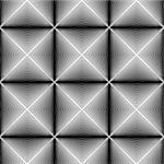 Design seamless diamond trellised pattern. Abstract geometric monochrome background. Speckled texture. Vector art