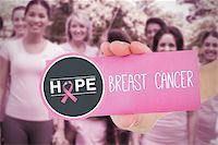 Composite image for breast cancer awareness with text on card Stock Photo - Royalty-Freenull, Code: 400-07834796