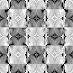 Design seamless monochrome geometric pattern. Abstract textured background. Vector art