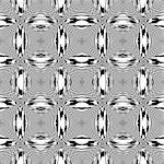 Design seamless monochrome geometric pattern. Abstract textured background. Vector art