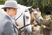 equestrian - Profile of Young Woman with Horse Stock Photo - Premium Rights-Managednull, Code: 822-07840875