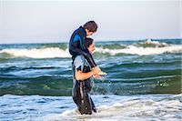 Mother with son at sea Stock Photo - Premium Royalty-Freenull, Code: 6102-07844036