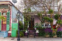 Facade of Purple House, French Quarter, New Orleans, Louisiana, USA Stock Photo - Premium Rights-Managednull, Code: 700-07844513