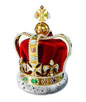 Crown with jewels, computer artwork. Stock Photo - Premium Royalty-Freenull, Code: 679-07846258