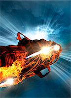 spaceship - Space craft, computer artwork. Stock Photo - Premium Royalty-Freenull, Code: 679-07846321