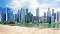 Singapore city skyline at day asia famous downtown Stock Photo - Royalty-Freenull, Code: 400-07892825