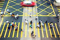 Hong Kong, China. High angle view of street in Hong Kong island Stock Photo - Premium Rights-Managednull, Code: 862-07909482