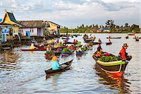 Indonesia, South Kalimatan, Lok Baintan. A picturesque floating market on the Barito River. Stock Photo - Premium Rights-Managednull, Code: 862-07909920