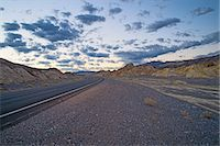 Roadside view of highway 190 at dawn, Death Valley National Park, California, USA Stock Photo - Premium Royalty-Freenull, Code: 614-07911892