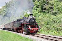 steam engine - Schwaebische Waldbahn, steam train, Rudersberg, Swabian Forest, Rems Murr District, Baden Wurttemberg, Germany, Europe Stock Photo - Premium Rights-Managednull, Code: 841-07913700