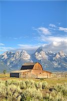 John Moulton Homestead, Barn dating from the 1890s, Mormon Row, Grand Teton National Park, Wyoming, United States of America, North America Stock Photo - Premium Rights-Managednull, Code: 841-07913903