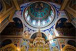 The ostentatious interior of the Nativitiy Cathedral, Chisinau, Moldova, Europe
