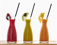 sweet   no people - Three different smoothies in carafes Stock Photo - Premium Royalty-Freenull, Code: 659-07959234