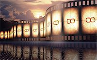 film strip - Old fashioned movie reel at sunset, conceptual illustration. Stock Photo - Premium Royalty-Freenull, Code: 679-07962055
