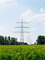 High-voltage Transmission Towers, North Rhine-Westphalia, Germany Stock Photo - Premium Royalty-Freenull, Code: 600-07965872