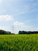 High-voltage Transmission Towers, North Rhine-Westphalia, Germany Stock Photo - Premium Royalty-Freenull, Code: 600-07965873