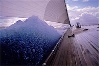 sailboat  ocean - Endeavour's Bow and Wave during Caribbean Sail towards Island of Nevis Stock Photo - Premium Rights-Managednull, Code: 700-07965855