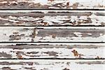 Close-up of Old White Wooden Wall with Flaking Paint, Andernos, Aquitaine, France