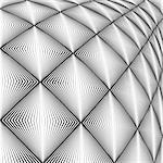 Design diamond convex texture. Abstract geometric monochrome perspective background. Vector art. No gradient