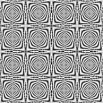 Design seamless monochrome illusion checkered background. Abstract torsion pattern. Vector art. No gradient