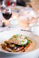 Cod with Herbs, Potatoes and Carrots at Wedding Reception Stock Photo - Premium Royalty-Freenull, Code: 600-07991595