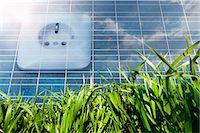 science & technology - Solar panel with power socket representing environmental conservation, Bavaria, Germany Stock Photo - Premium Royalty-Freenull, Code: 6121-07992665
