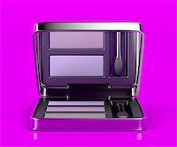 silver box - Eye shadow on shiny purple background Stock Photo - Royalty-Freenull, Code: 400-07996141