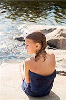 Teenage girl at water Stock Photo - Premium Royalty-Freenull, Code: 6102-08000975