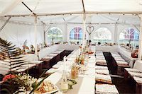 Wedding reception in tent Stock Photo - Premium Royalty-Freenull, Code: 6102-08001087