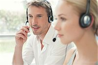 switchboard operator - Workers in call center Stock Photo - Premium Royalty-Freenull, Code: 632-08001688